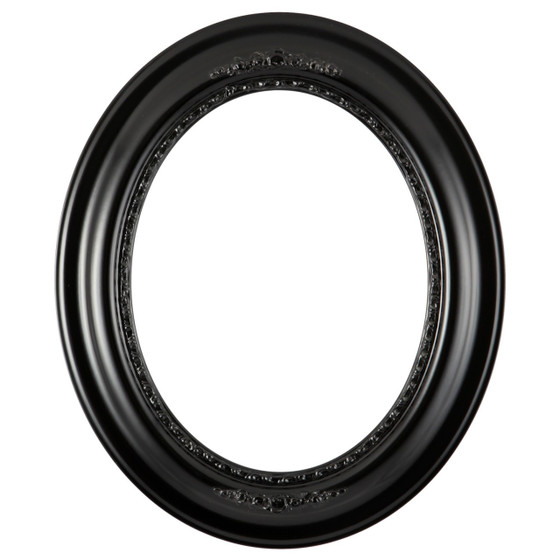 Oval Frame in Matte Black Finish| Black Wooden Picture Frames with ...