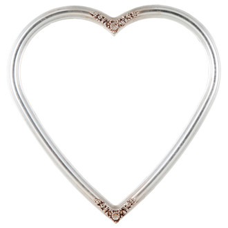 Contessa Heart Frame #554 - Silver Leaf with Brown Antique