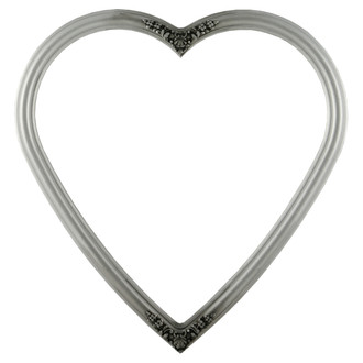 Contessa Heart Frame #554 - Silver Spray