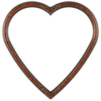 Contessa Heart Frame #554 - Vintage Walnut