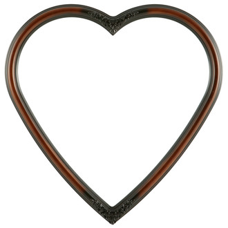 Contessa Heart Frame #554 - Walnut