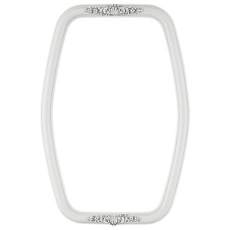 Contessa Hexagon Frame #554 - Linen White