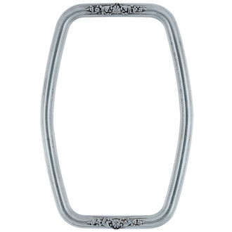 Contessa Hexagon Frame #554 - Silver Leaf with Black Antique