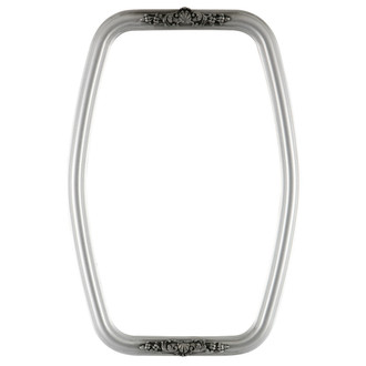 Contessa Hexagon Frame #554 - Silver Spray