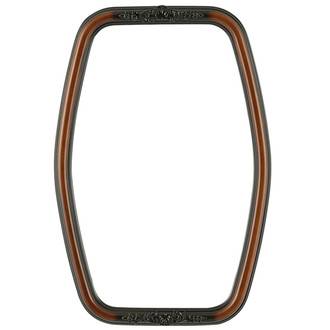 Contessa Hexagon Frame #554 - Walnut