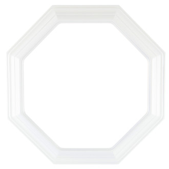 Collector Plate Frame #351 - Linen White