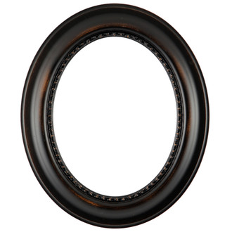 456 Oval Frame with Rubbed Bronze