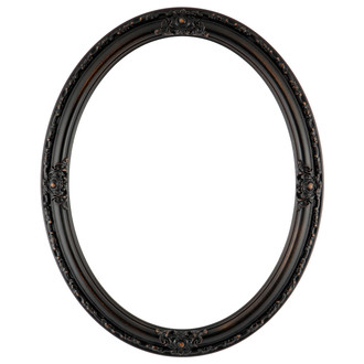 Jefferson Oval Frame #601 - Rubbed Bronze