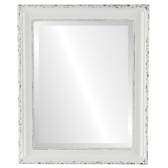 Kensington Beveled Rectangle Mirror Frame in Linen White