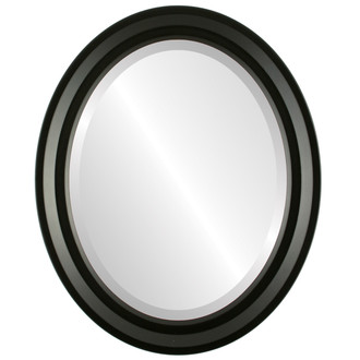 Newport Beveled Oval Mirror Frame in Matte Black