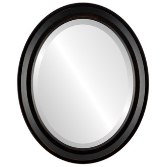 Newport Beveled Oval Mirror Frame in Rubbed Bronze