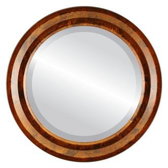 Newport Beveled Round Mirror Frame in Venetian Gold