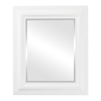 Lancaster Beveled Rectangle Mirror Frame in Linen White