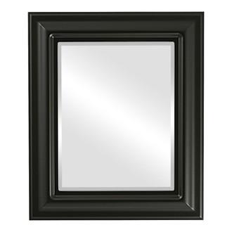 Lancaster Beveled Rectangle Mirror Frame in Matte Black