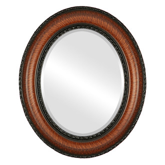 Somerset Beveled Oval Mirror Frame in Vintage Walnut