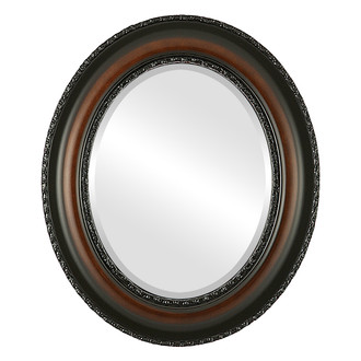 Somerset Beveled Oval Mirror Frame in Walnut