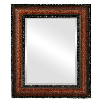 Somerset Beveled Rectangle Mirror Frame in Vintage Walnut