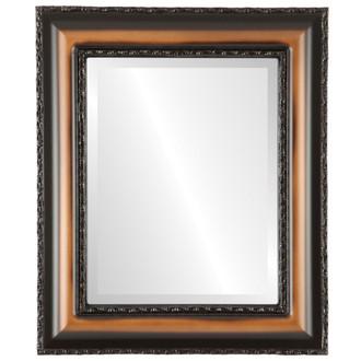 Somerset Beveled Rectangle Mirror Frame in Walnut