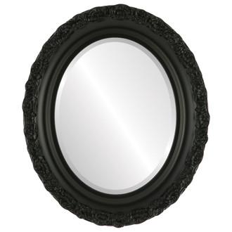 Venice Beveled Oval Mirror Frame in Matte Black