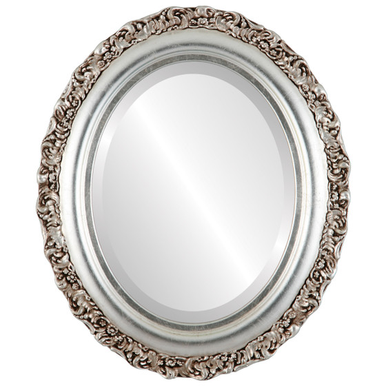 Silver Oval Mirrors from 177 Venice Silver Leaf with Brown Antique