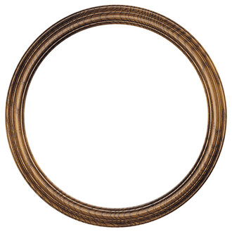 Melbourne Round Frame # 300 - Toasted Oak