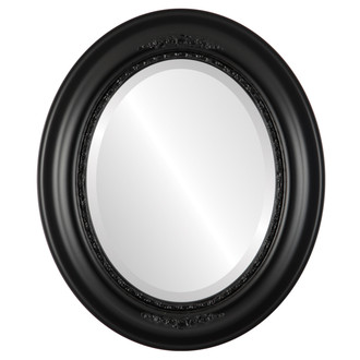 Boston Beveled Oval Mirror Frame in Gloss Black