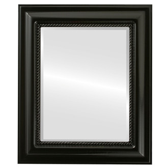 Heritage Beveled Rectangle Mirror Frame in Gloss Black