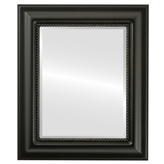 Heritage Beveled Rectangle Mirror Frame in Matte Black