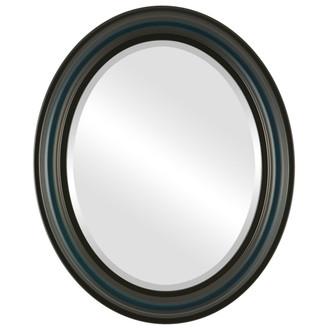 Philadelphia Beveled Oval Mirror Frame in Royal Blue