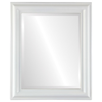 Philadelphia Beveled Rectangle Mirror Frame in Linen White