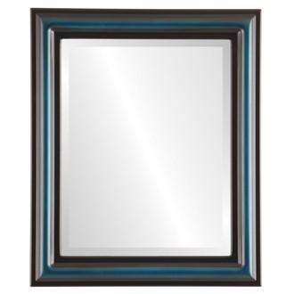 Philadelphia Beveled Rectangle Mirror Frame in Royal Blue