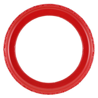 Kensington Round Frame # 401 - Holiday Red