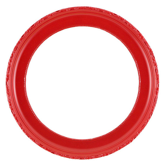 Round Frame in Holidy Red Finish| Dipped Profile and Outside ...