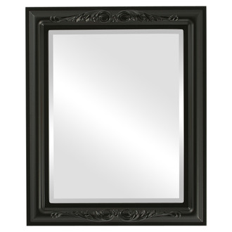 Florence Beveled Rectangle Mirror Frame in Matte Black