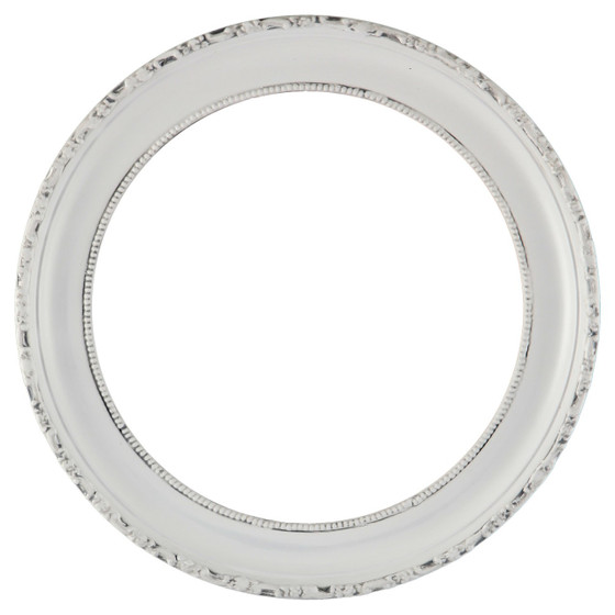 White Round Picture Frames   Shop for a White Wooden Picture Frame