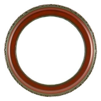 Kensington Round Frame # 401 - Rosewood