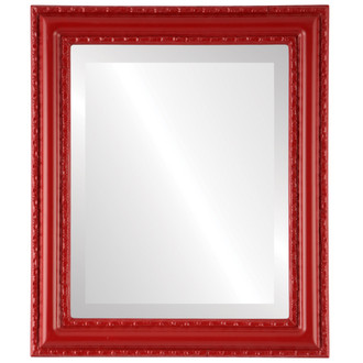 Dorset Beveled Rectangle Mirror Frame in Holiday Red