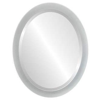 Vienna Beveled Oval Mirror Frame in Bright Silver