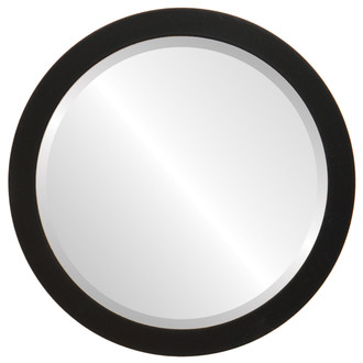 Vienna Beveled Round Mirror Frame in Matte Black