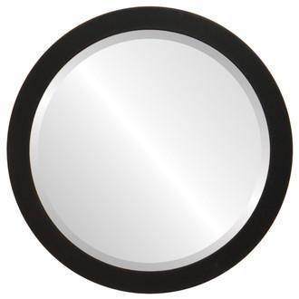 Vienna Beveled Round Mirror Frame in Matte Black