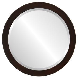 Vienna Beveled Round Mirror Frame in Mocha