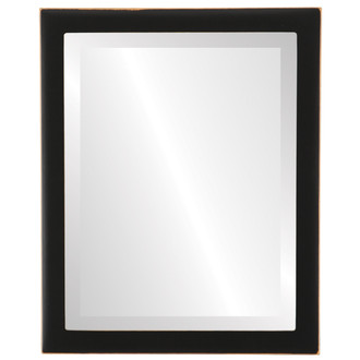 Vienna Bevelled Rectangle Mirror Frame in Rubbed Black