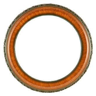Kensington Round Frame # 401 - Vintage Walnut