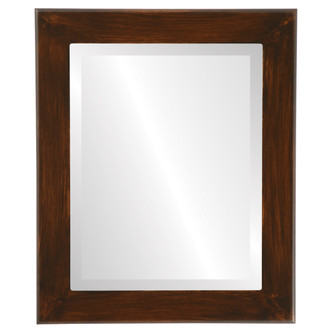 Cafe Beveled Rectangle Mirror Frame in Mocha