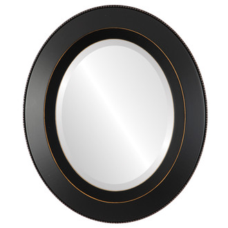 Lombardia Beveled Oval Mirror Frame in Rubbed Black