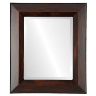 Lombardia Beveled Rectangle Mirror Frame in Mocha