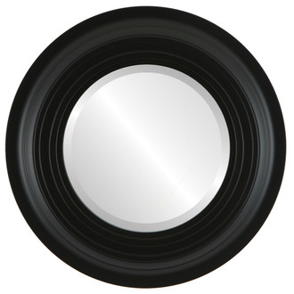 Imperial Beveled Round Mirror Frame in Matte Black