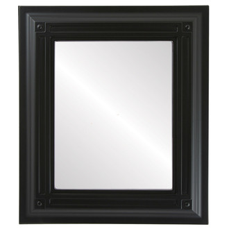 Imperial Beveled Rectangle Mirror Frame in Matte Black