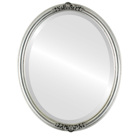 Silver Oval Mirrors from $151| Contessa Silver Leaf with Black ...