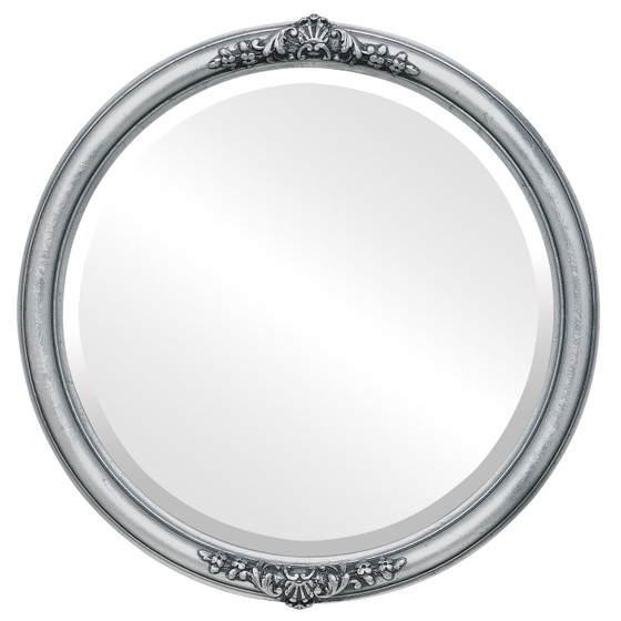 Silver Round Mirrors from $151| Contessa Silver Leaf with Black ...